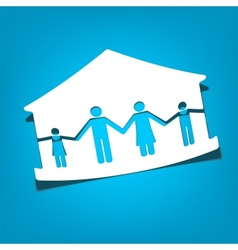 house with family symbols vector image