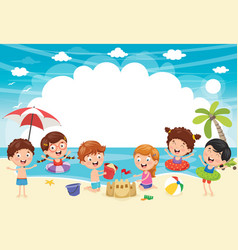 ilustration of summer kids vector image