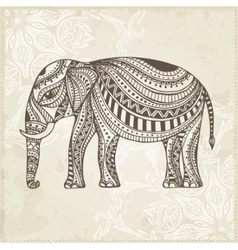 Indian Hand Drawn Elephant Arabic and Jewish vector image