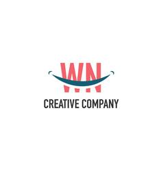 Initial letter wn dental logo concept vector