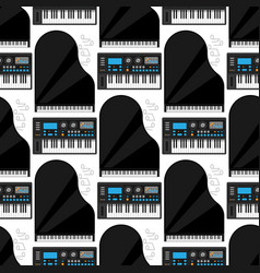 keyboard musical instruments classical vector image