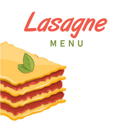 Lasagne menu lasagne background image vector