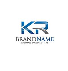 Letter kr logo vector