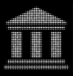 library building halftone icon vector image