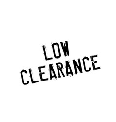 Low clearance rubber stamp vector