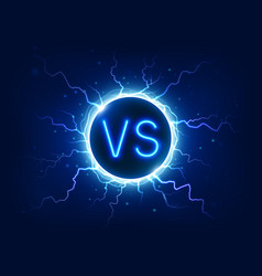 neon versus sign vs competition symbol with vector image