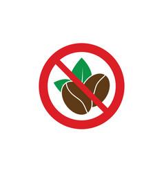 no caffeine no coffee red circle prohibiting vector image