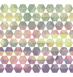 Pattern geometric with triangle and hexagon vector