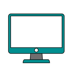 Pc monitor electronic vector