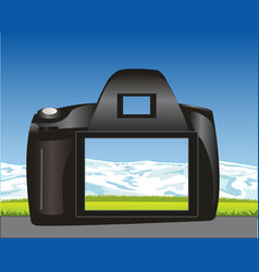 Photographic device and nature vector