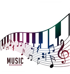 Piano and musical notes chord background vector