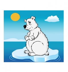 polar bear global warming vector image