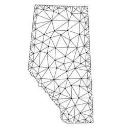 Polygonal 2d mesh map of alberta province vector
