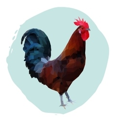 Polygonal of rooster vector image