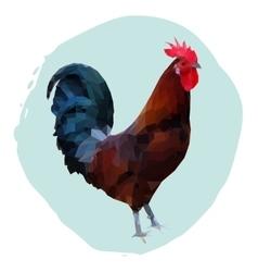 Polygonal rooster vector