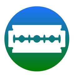 razor blade sign white icon in bluish vector image