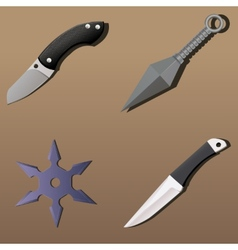 Realistic weapon set - part 1 vector image
