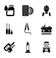 refurbish icons set simple style vector image