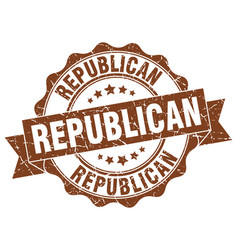 republican stamp sign seal vector image