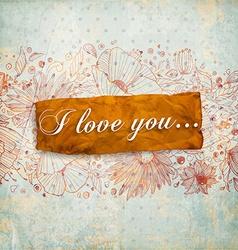 Retro I Love You Banner vector
