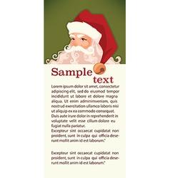 Santa tag vector