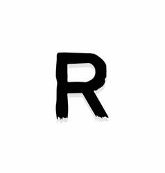 Scary horror logo letter r vector