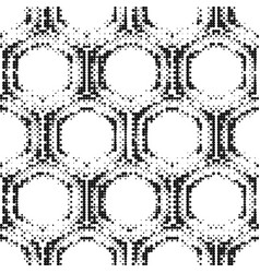 seamless pattern of halftone dots vector image