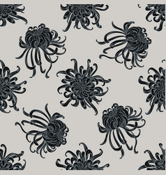 seamless pattern with hand drawn stylized japanese vector image