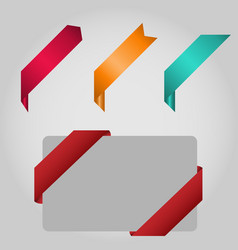 set label ribbon banner vector image