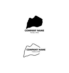 Set louisville kentucky map logo design icon vector