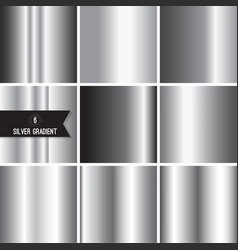 Set of silver foil texture vector