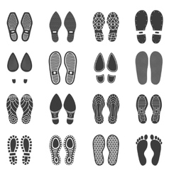 Shoes Footprint Icons vector