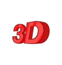 Sign 3d icon cartoon style vector