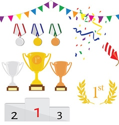 Sport award icon set vector image