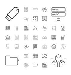 storage icons vector image