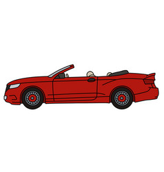 The red cabriolet vector