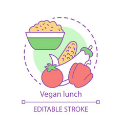 vegan lunch concept icon vegetarian lifestyle vector image