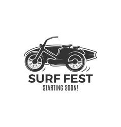 Vintage Surfing tee design Retro Surf fest tshirt vector