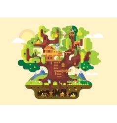 Fabulous tree house vector image vector image