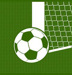flat soccer background vector image