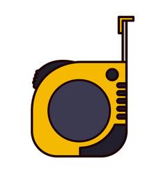 measure tape icon colorful silhouette vector image