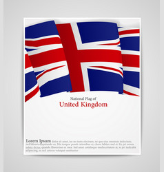 national flag brochure of united kingdom vector image vector image