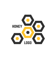 simple honeycomb abstract logotype vector image vector image
