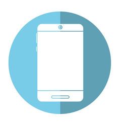 smartphone technology trendy shadow vector image vector image