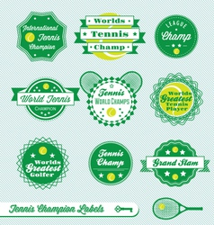 Tennis Labels vector image vector image