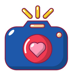 wedding photography icon cartoon style vector image
