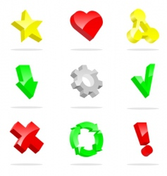 3d icons collection vector image vector image