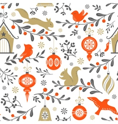 Christmas retro pattern vector image vector image