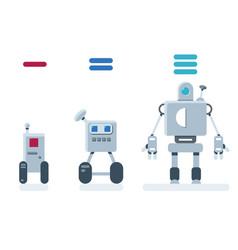 evolution of robots vector image