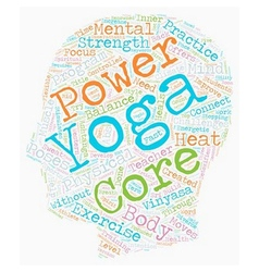 Need power try core power yoga text background vector
